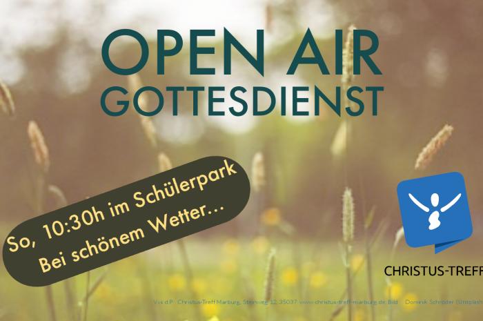 Open Air Gottesdienst am Sonntag