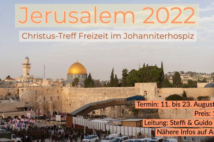 Save the Date: Israel-Freizeit im Johanniter-Hospiz