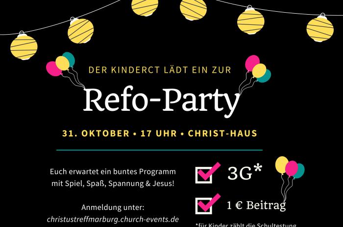 Es gibt sie wieder … die Reformationsparty!